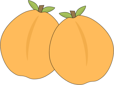 Pair of Apricots - Apricot Clipart