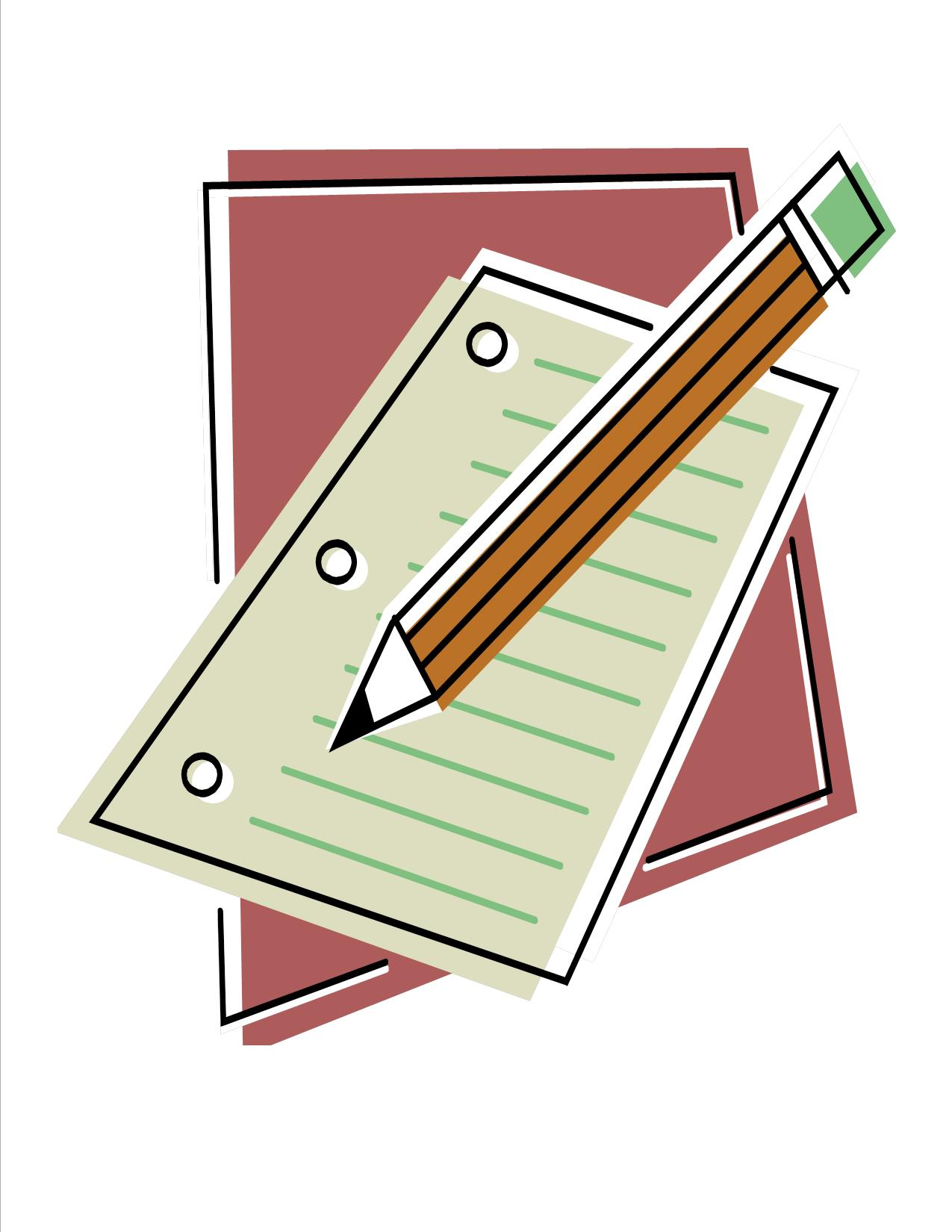 Pencil And Paper Clipart