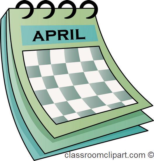 April calendar clip art dromfhi top