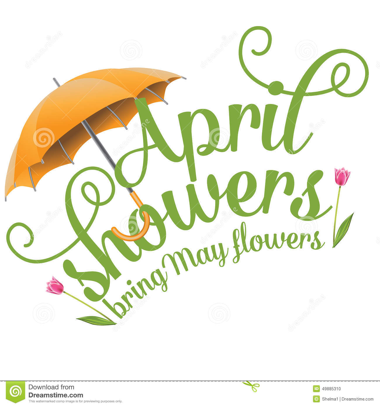 April Clip Art | April Showers Bring May-April Clip Art | April Showers Bring May Flowers Design Stock Vector - Image: 49885310 | APRIL | Pinterest | May flowers, Clip art and Spring-2
