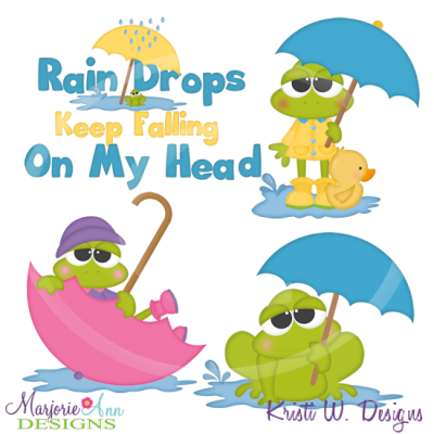 April Showers April Shower Frogs Cutting-April showers april shower frogs cutting files includes clipart 2-6