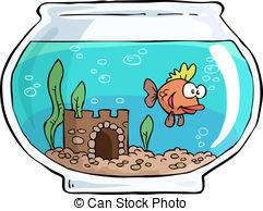 ... Aquarium - An aquarium with small fish vector illustration