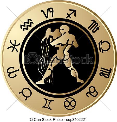 Horoscope Aquarius - csp34022 - Aquarius Clipart