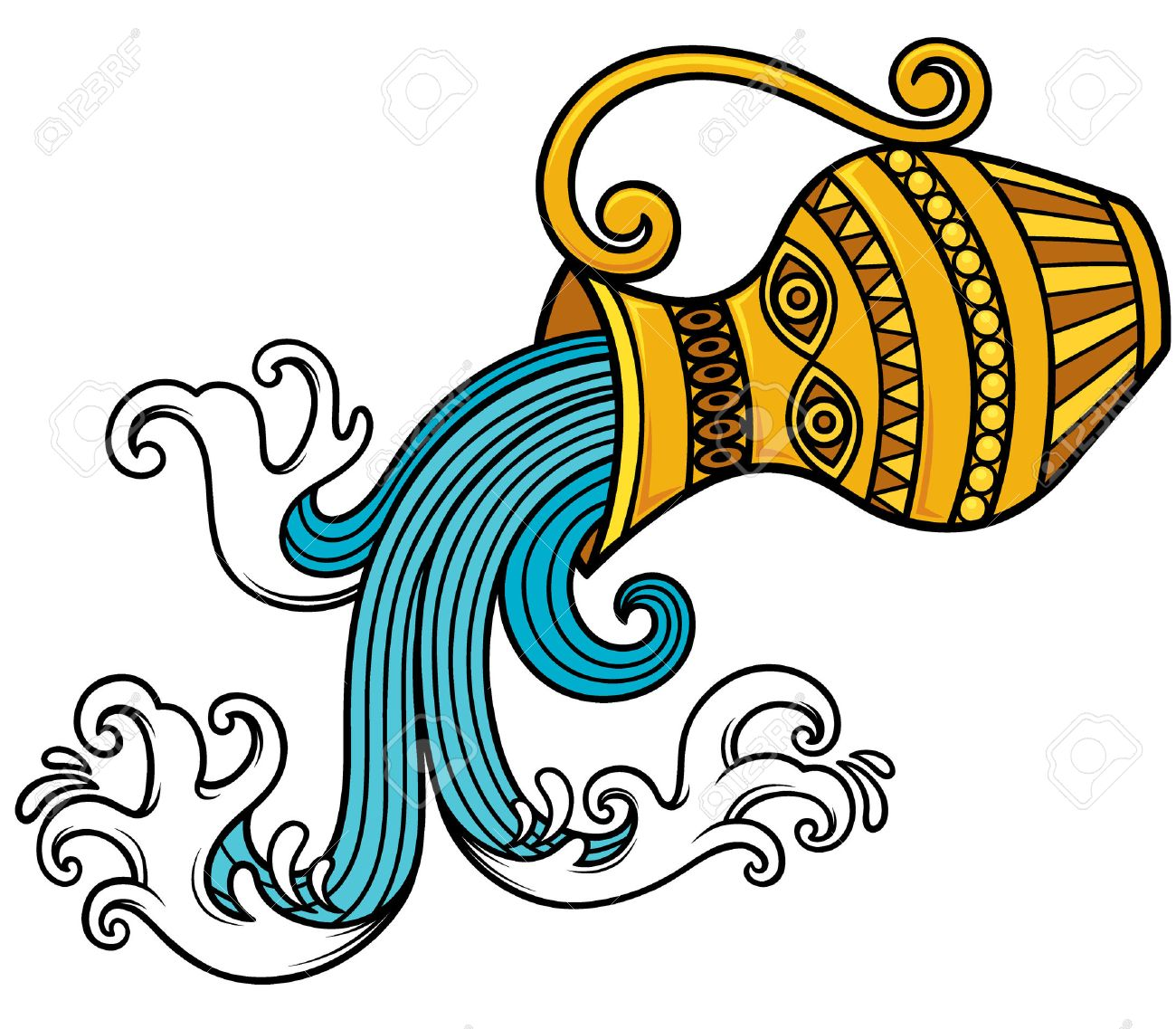 Vector - Vector Illustration of Aquarius zodiac sign