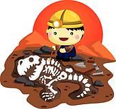 Safari kids; Archaeologist