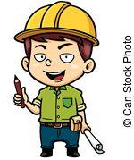 ... Architect - Vector illustration of Cartoon Male Architect.