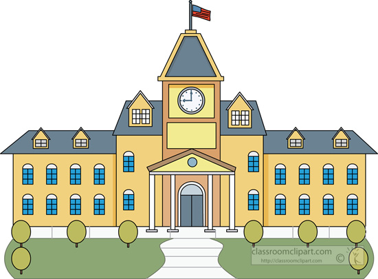 Architecture College Building Classroom Clipart