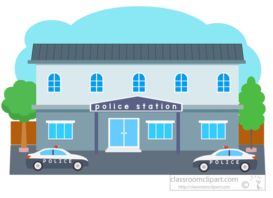 Architecture Police Station Building Clipart 051 Classroom Clipart