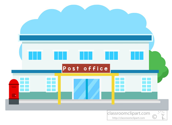 Architecture Post Office Building Clipart 052 Classroom Clipart