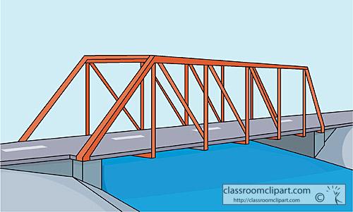 Architecture truss bridge clipart