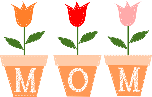 Free mothers day flower clip