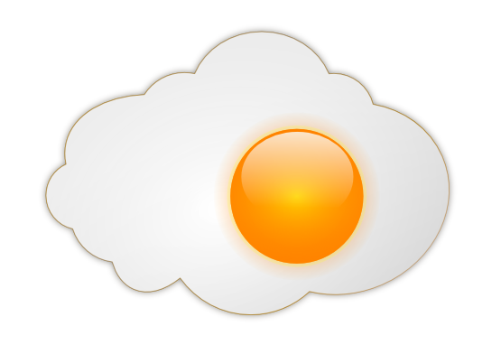 Are you looking for a fried sunny side up egg clip art for use on your  projects? Use this clip art freely on your food blogs, magazines,  newsletters, ...