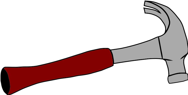 Are you looking for a hammer clip art for your construction related project? This hammer with red handle clip art can be used on your home improvement ...