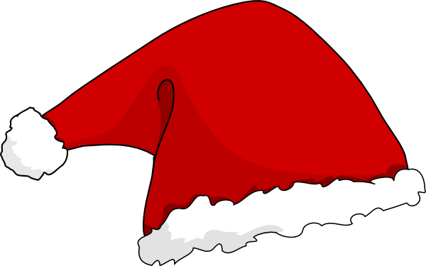 Santa hat clipart clipart kid