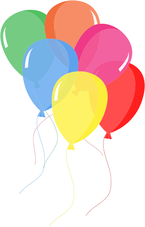Are you searching for balloons clip art for use on your birthday or party projects? Search no more as this nice colorful balloons clip art is in the public ...