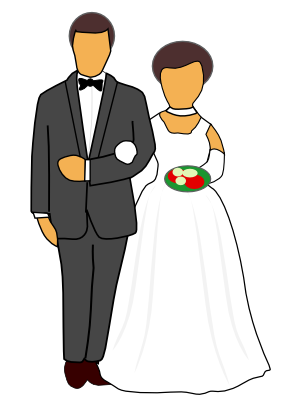 Ariel clipart 0 bride and gro - Groom Clipart