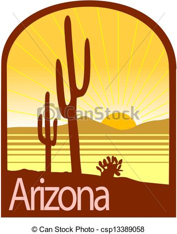 Arizona desert landscape Clip Artby snehitdesign10/1,765; Arizona