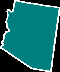 Arizona Teal State Clip Art A - Arizona Clip Art