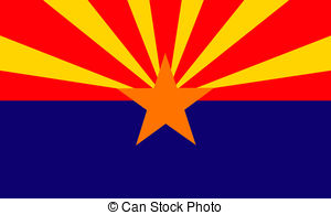 ... Arizona (USA) flag - Arizona Clip Art