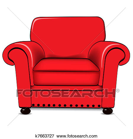A vector illustration of an a - Armchair Clipart
