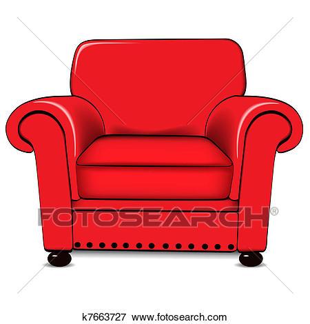 A vector illustration of an armchair