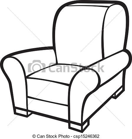 armchair (leather tub chair)  - Armchair Clipart