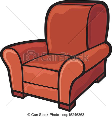 armchair (leather tub chair) - csp15246363
