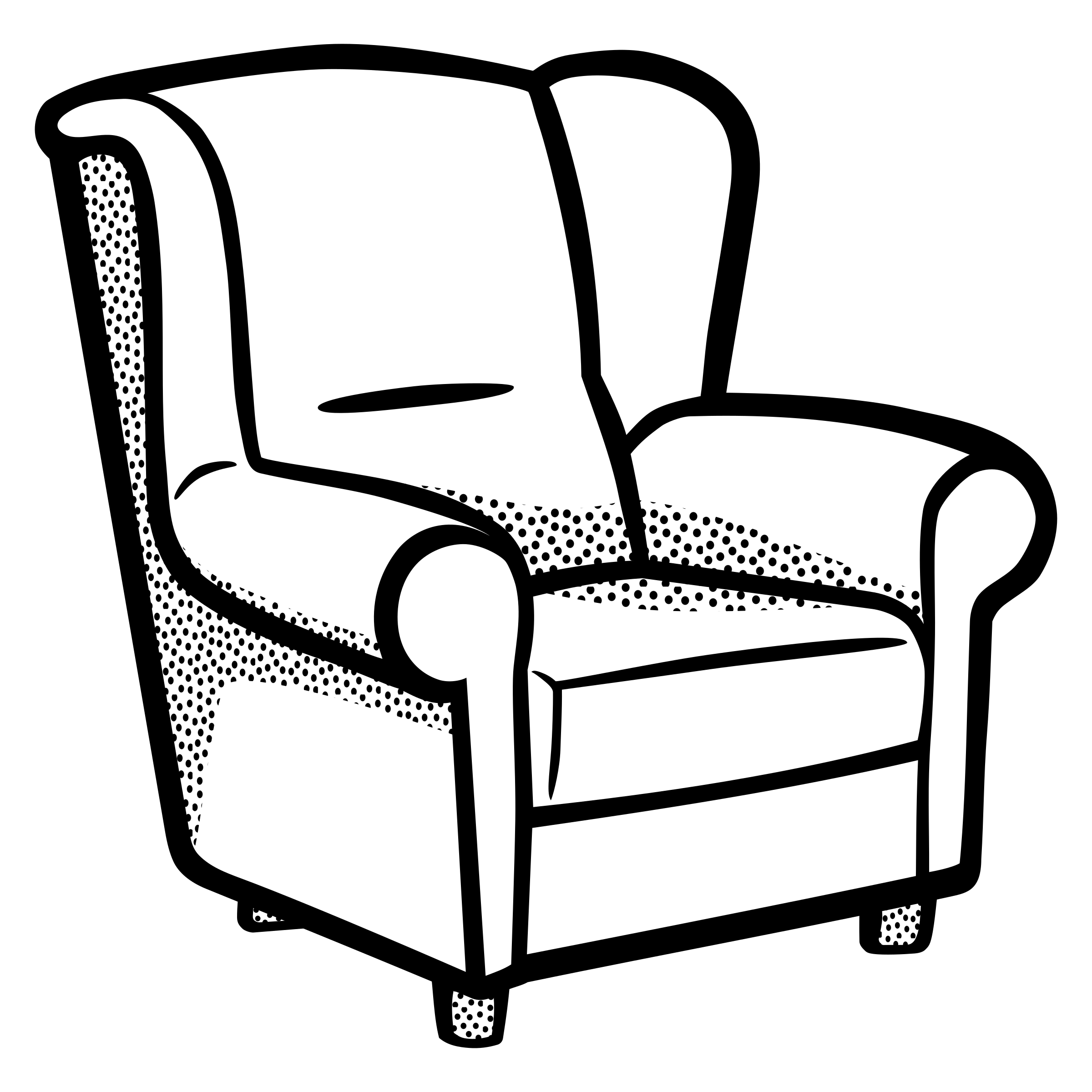 BIG IMAGE (PNG) - Armchair Clipart