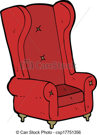 cartoon old armchair - csp17751356