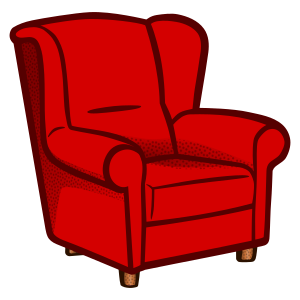 armchair (leather tub chair)