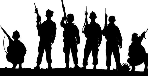 Armed Forces Silhouette Clip Art At Clker Com Vector Clip Art Online