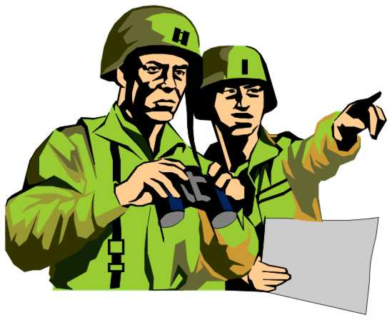 Army Officers Group Clip Art ...
