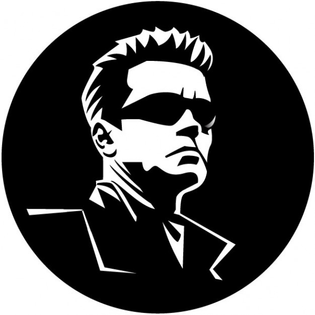 Hollywood Actor Portrait Of Arnold Schwa-Hollywood actor portrait of Arnold Schwarzenegger Free Vector-16