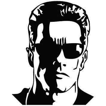 Terminator Arnold Schwarzenegger - Movie-Terminator Arnold Schwarzenegger - Movie Decal Vinyl Car Wall Laptop  Cellphone Sticker-18