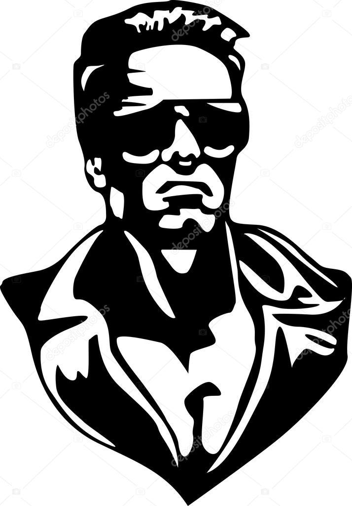 Terminator In Vector Stock Vector-Terminator in vector Stock Vector-19