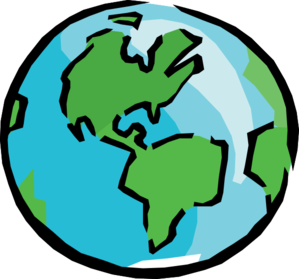 around the world clipart