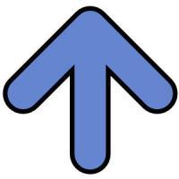 arrow-blue-rounded-up - Up Arrow Clip Art
