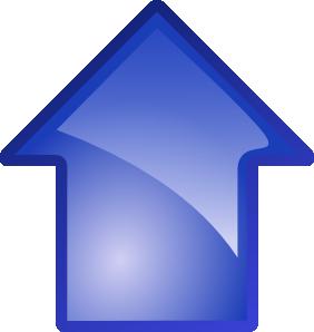 Arrow Blue Up clip art - vector clip art online, royalty free .