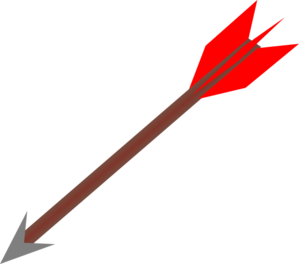 Clipart 11520 Bow And Arrow B