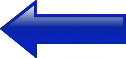 Arrow-left-blue clip art - Download free Shape vectors