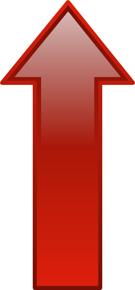 Arrow Up Red Clip Art At Clke - Up Arrow Clip Art