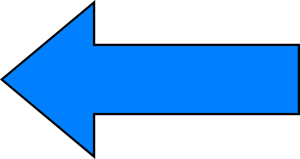 Arrows Blue | Free Stock Photo | Illustration of a blue left