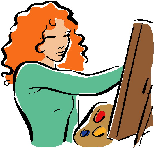 ... Art And Artist Clipart Free ...-... Art and artist clipart free ...-1