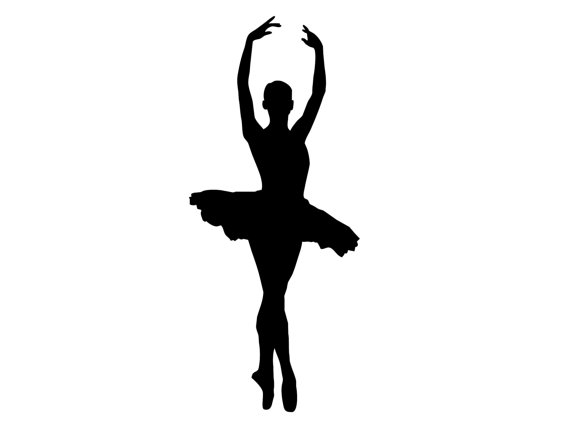Art Ballet Dancer Silhouette .