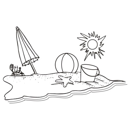 Art Beach Black And White Clipart Design-Art Beach Black And White Clipart Design Ideas Clipart Beach-0
