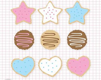 Art Digital Files Png And Jpeg Clipart Cookies Sugar Cookie
