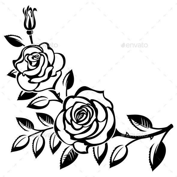 ... Art Flowers Black And White Roses ..-... art flowers black and white roses ... 1000  images about Tattoo Dreams ...-0