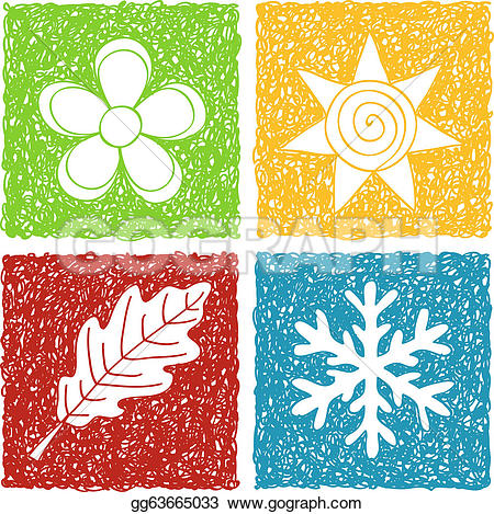 Art hearts beautiful for your design u0026middot; Four seasons doodle icons