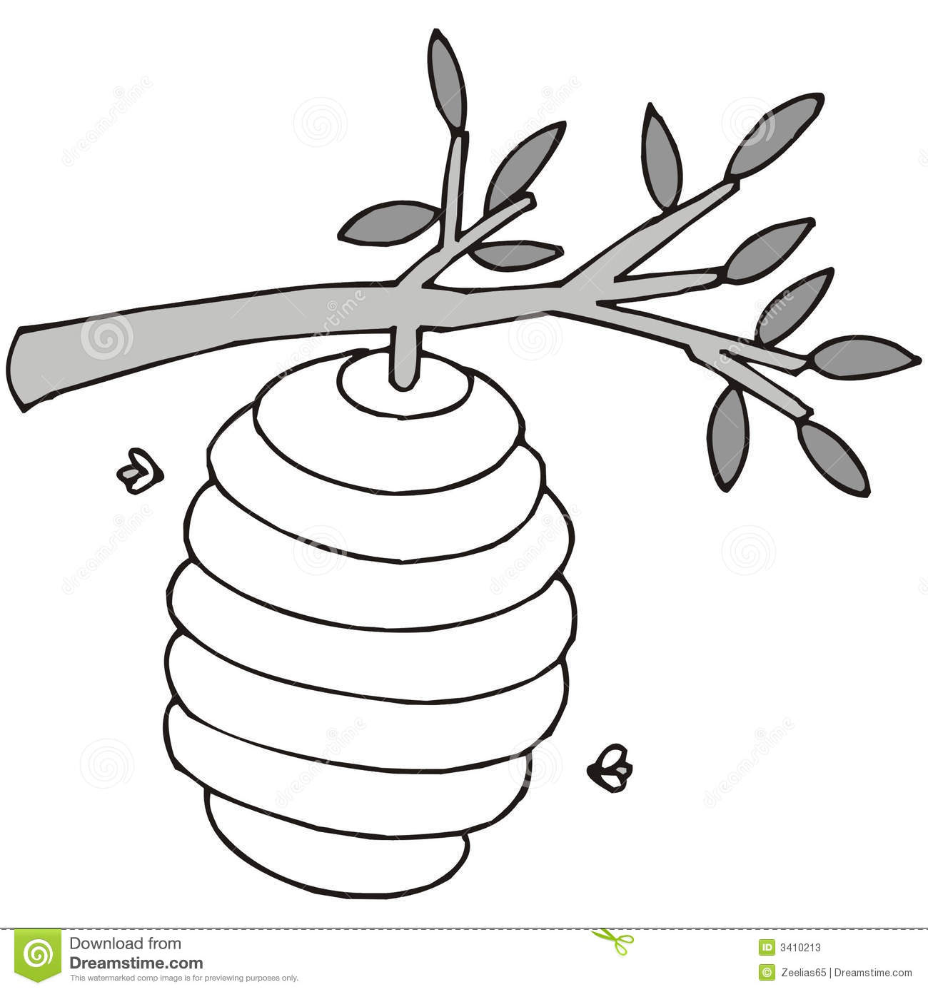 Art Illustration In Black And White A Be-Art Illustration In Black And White A Beehive-2