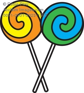 Art Illustration Of Two Swirled Lollipop-Art Illustration Of Two Swirled Lollipops Acclaim Stock Photography-0